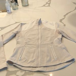 Lululemon white and tan gingham jacket and tank